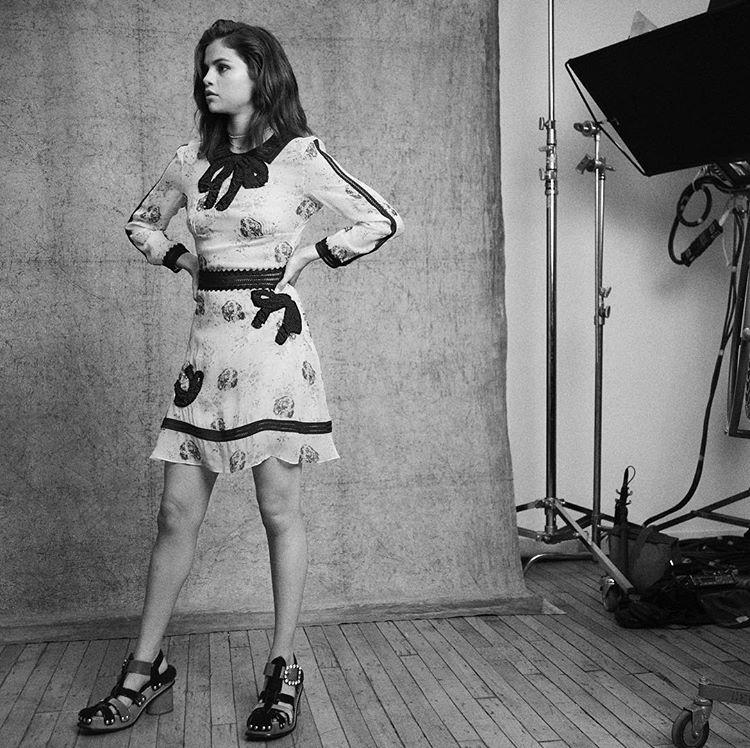 Selena Gomez Coach campaign behind the scenes photo Stuart Vevers
