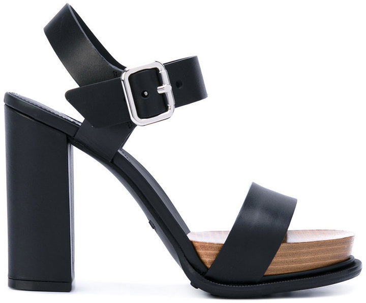 Tod_s Buckled Platform Sandals