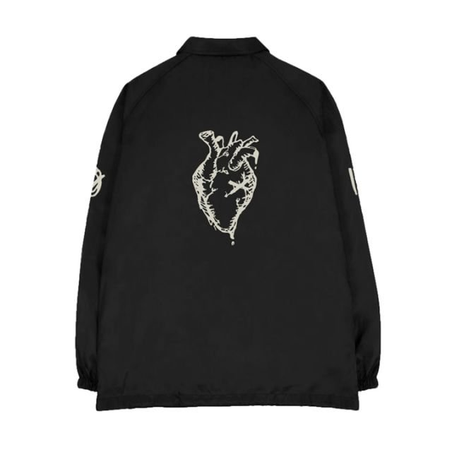 XO Heart Logo Coach Jacket back view