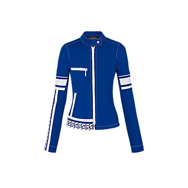 Louis VuittonZipped Perfecto with Stripe Detail jacket