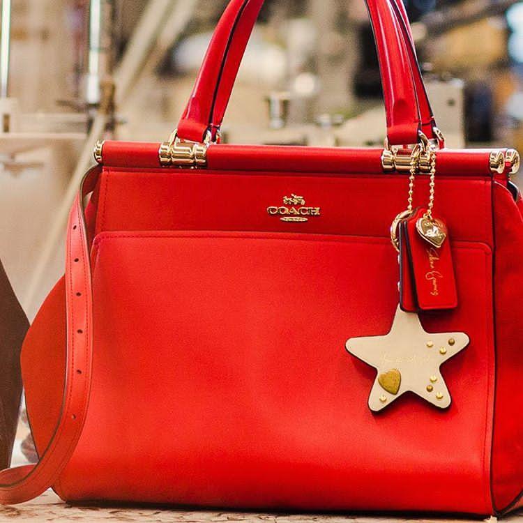 Selena Gomez style 2017 Selena Grace bag in Selena Red photo Coach