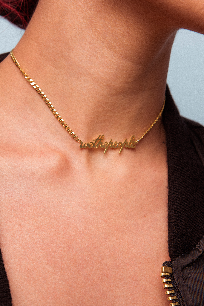 'We The People' necklace