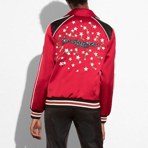 Coach Embroidered Varsity Souvenir Jacket back view
