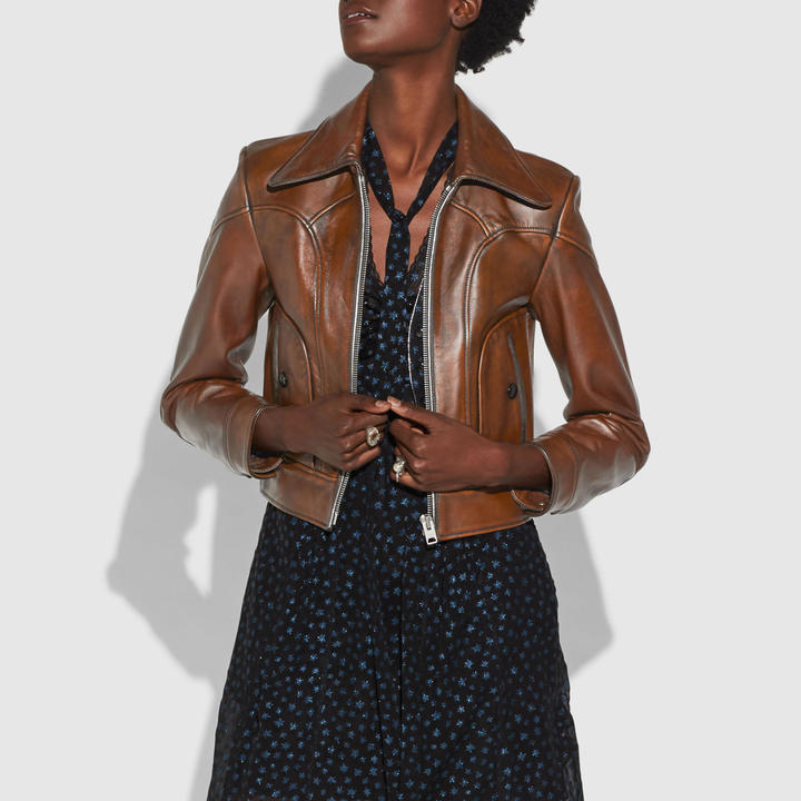 CoachLandscape Leather Jacket