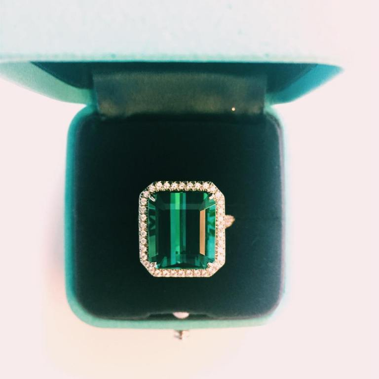 Emerald Tiffany & Co ring photo Kate Young