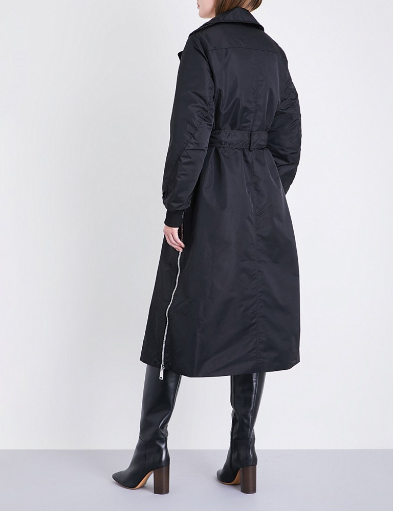 Maje x Schott Goodwin shell trench coat back view