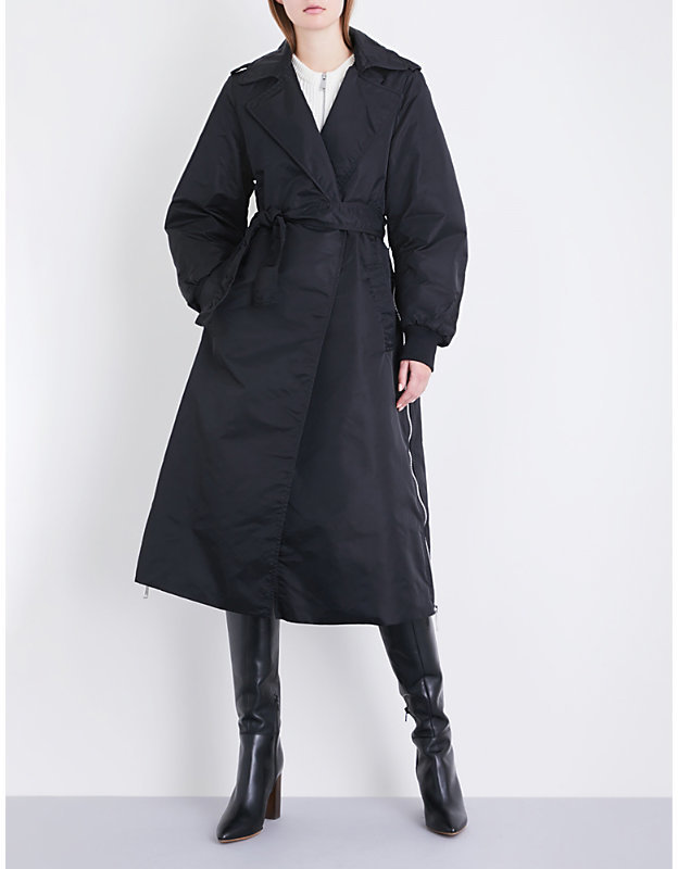 Maje x Schott Goodwin shell trench coat