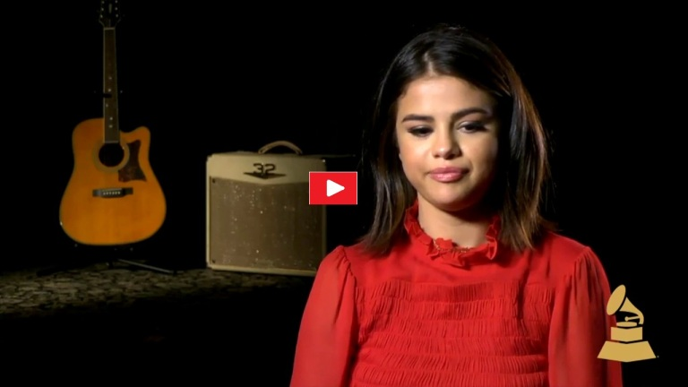 Selena Gomez Grammy interview video 2017