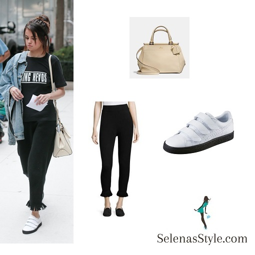 c7f36bb8fa3e8 Selena Gomez in Talking Heads T-shirt – Selena Gomez Style Blog