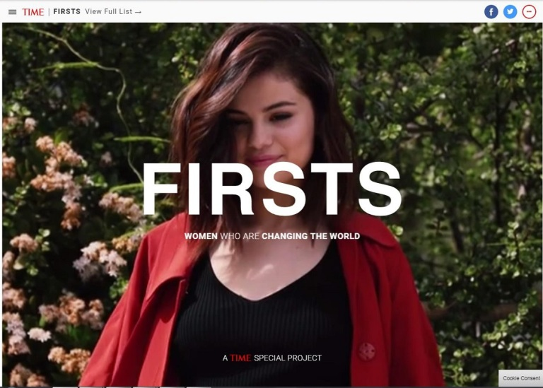Selena Gomez TIME firsts screenshot
