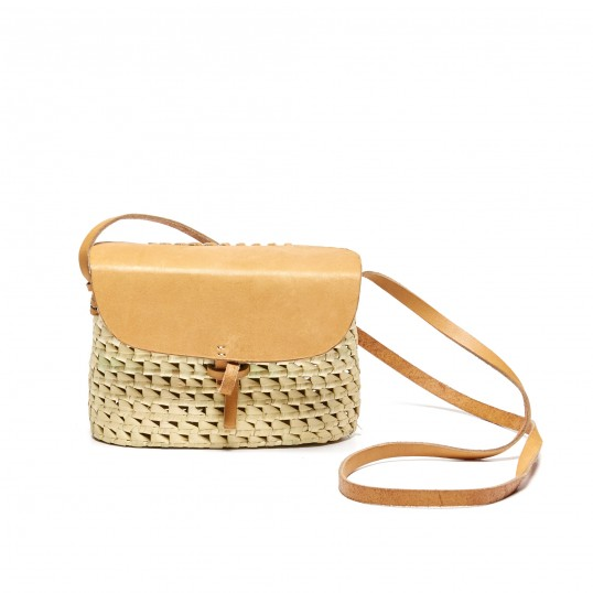 Soludos 'Merida' Cross Body Woven and Leather bag