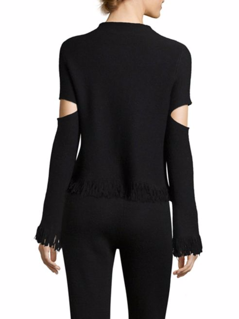 Zoe Jordan LaplaceHigh Neck Knitted Sweater back view
