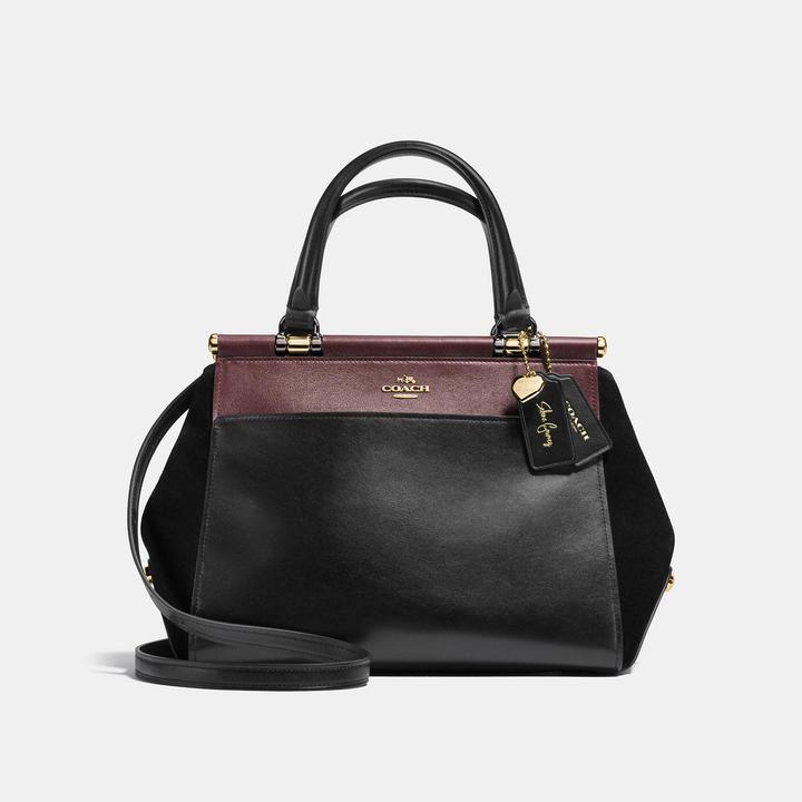 Coach Selena Grace bag in Selena Black Cherry