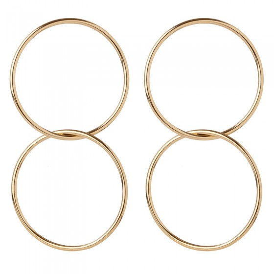 Jennifer Fisher Gold Interlocking Circle Earrings