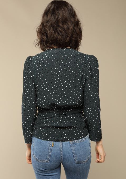rouje Anna top dots print back view