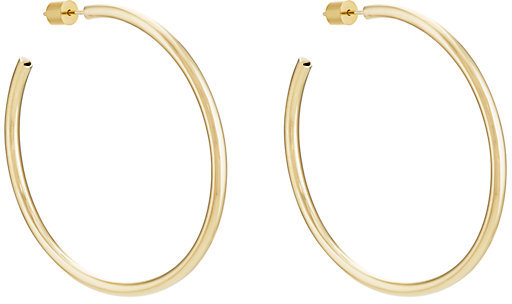 "Jennifer Fisher 3"" Gold Hollow Classic Hoops"