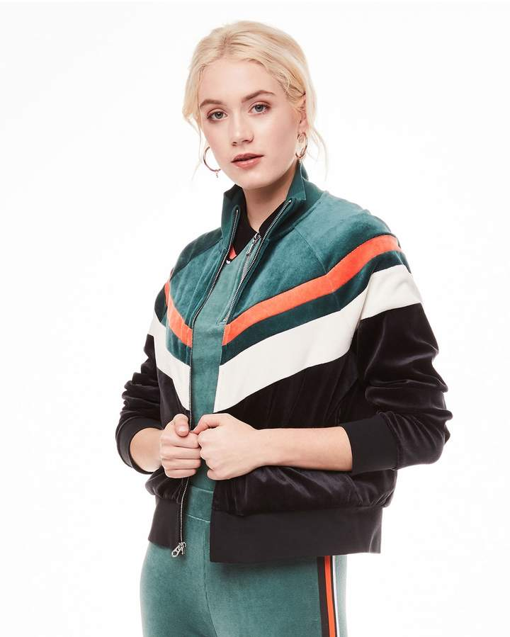Juicy Couture Colorblock Velour Palisades Jacket