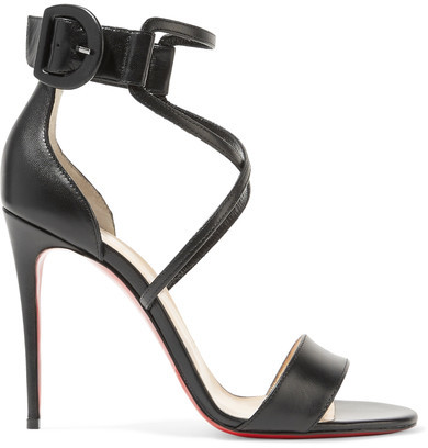 Louboutin Choca 100 Leather Sandals