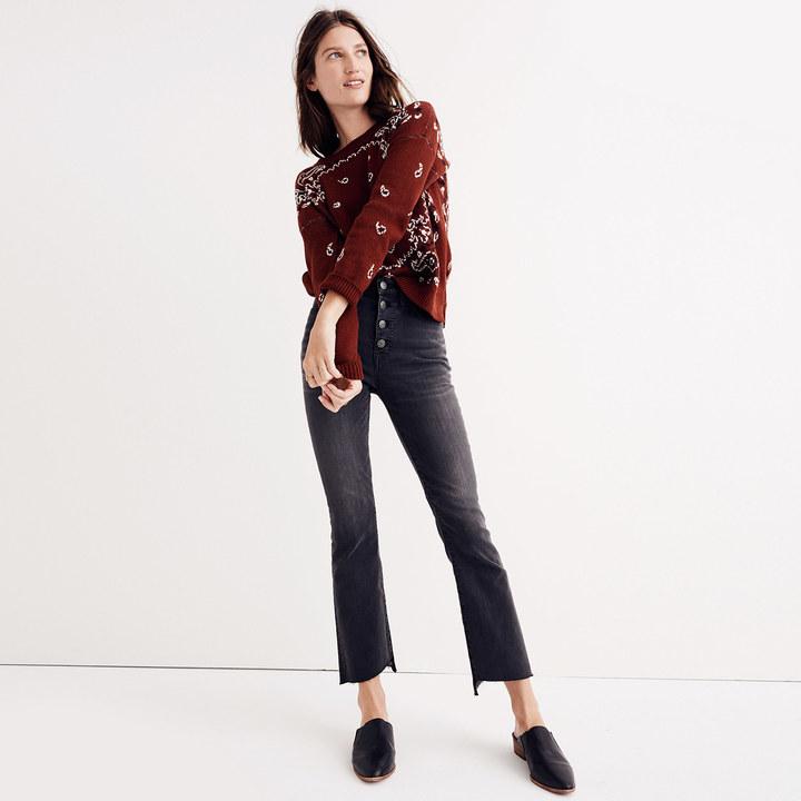 Madewell Cali Demi-Boot Jeans Asymmetrical Hem Edition