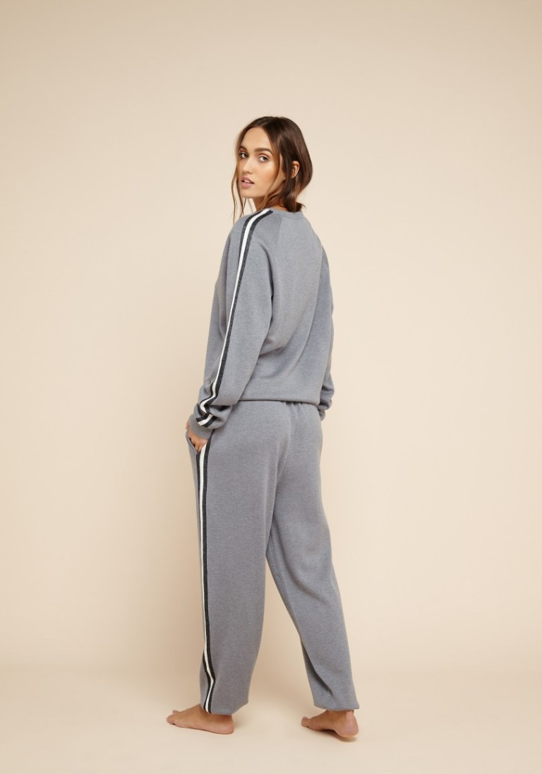 Olivia Von Halle Missy London Silk-Cashmere Tracksuit back view