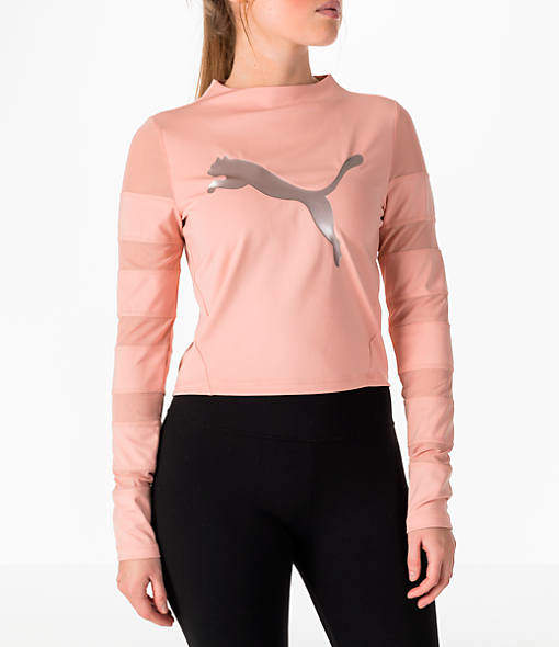 Puma Women's Mesh Insert Long-Sleeve Training Shirt