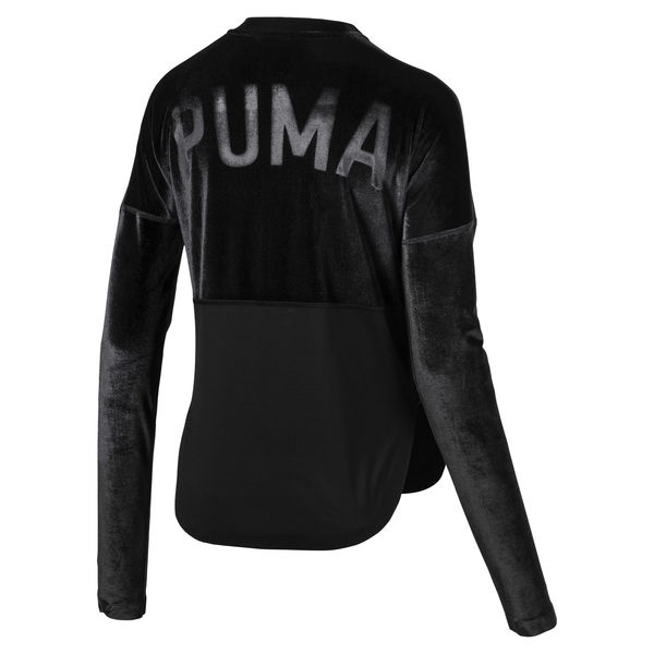 Puma Active Training Women's Velvet Statement Jacket back view