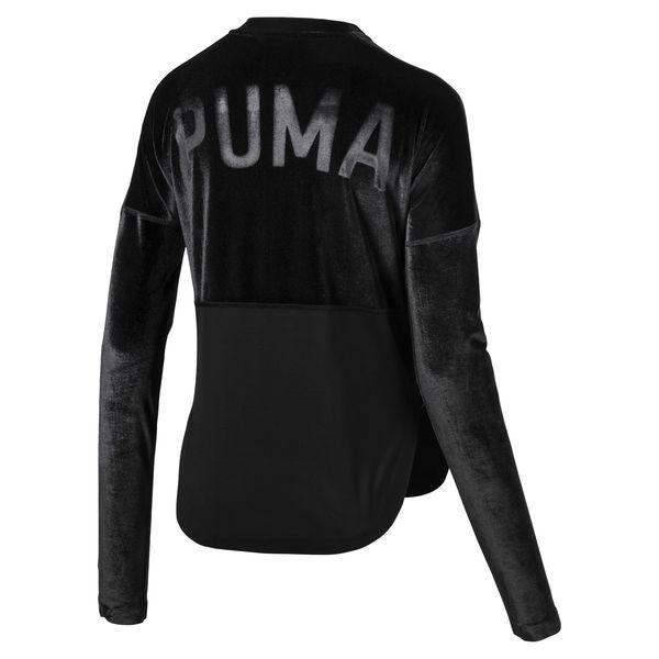 PumaActive Training Women's Velvet Statement Jacket back view