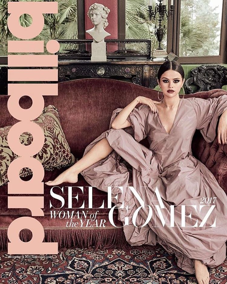 Selena Gomez pink dress Billboard woman of the Year 2017