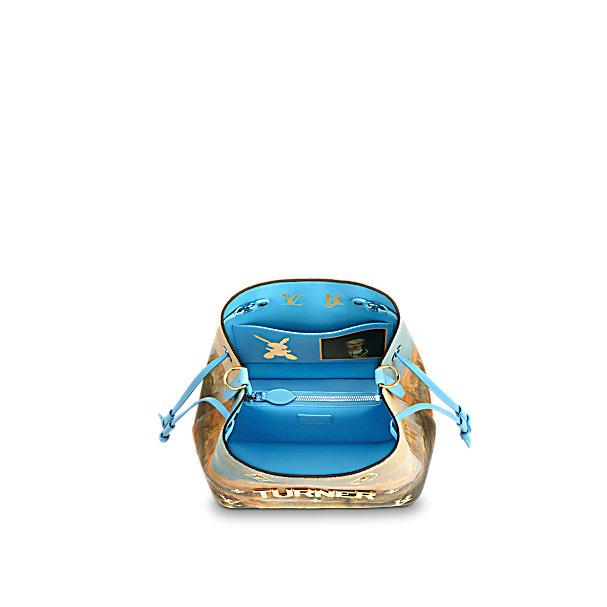 Louis Vuitton x Jeff Koons NeoNoe bag inside