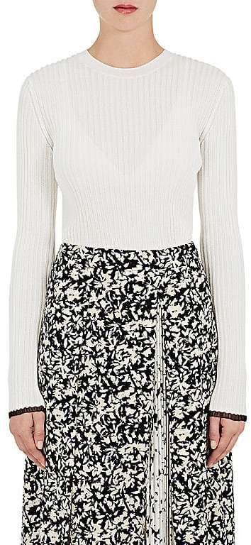 Proenza Schouler Women's Rib-Knit Long Sleeve Top