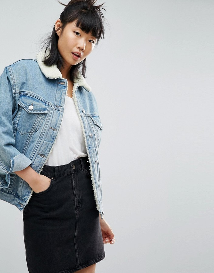 ASOS Denim Borg Jacket