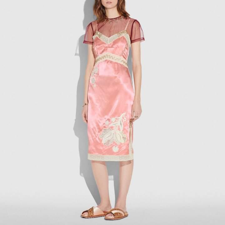 Coach Embellished Empire Slip Dress