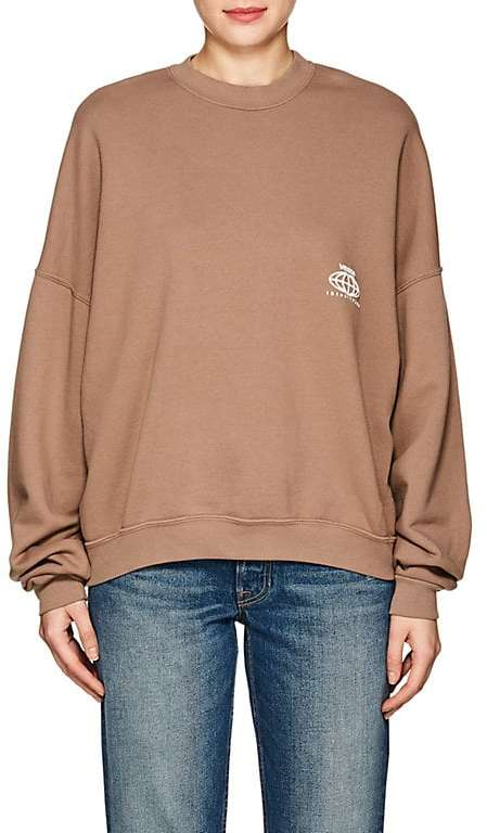 Visitor On Earth Women's Logo Cotton Sweatshirt