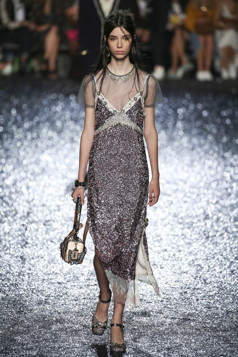Coach lilac sequin dress SS 18 photo Edward James