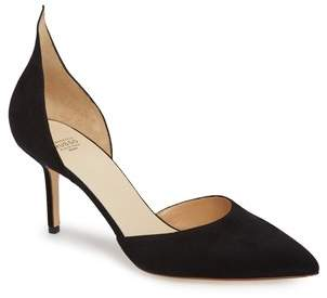 Francesco Russo D'orsay Suede Pumps