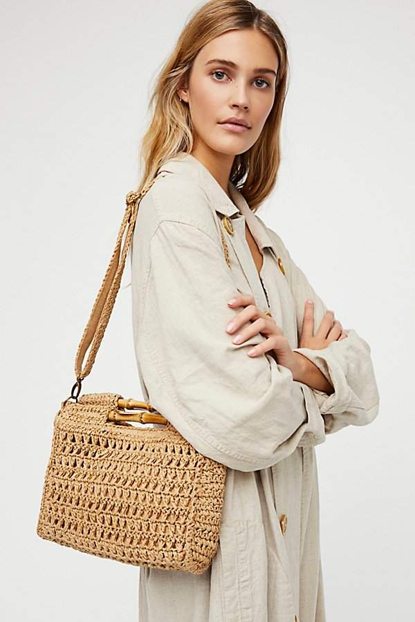 Free People Dreamland Straw Clutch