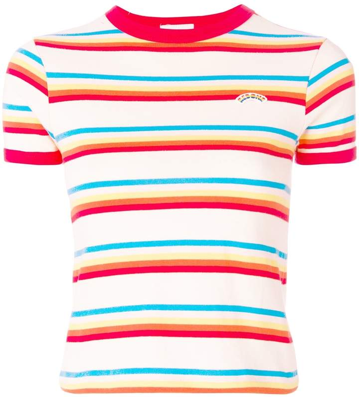 REDONE Seventies Striped Cotton-jersey T-shirt