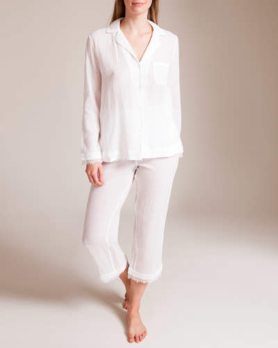 Skin Worldwide Woven Cotton Gauze Pajama