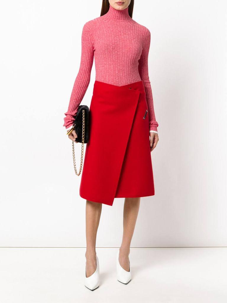 Celine wrap front skirt