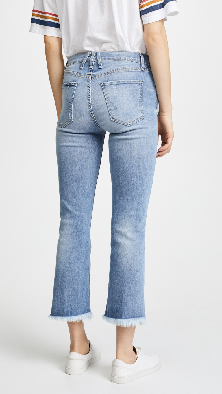 McGuire Denim High Rise Cropped Gainsbourg Jeans back view