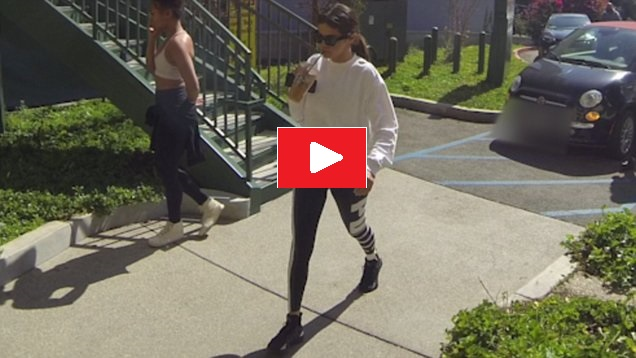 Selena Gomez arrives at hot pilates video Daily Mail