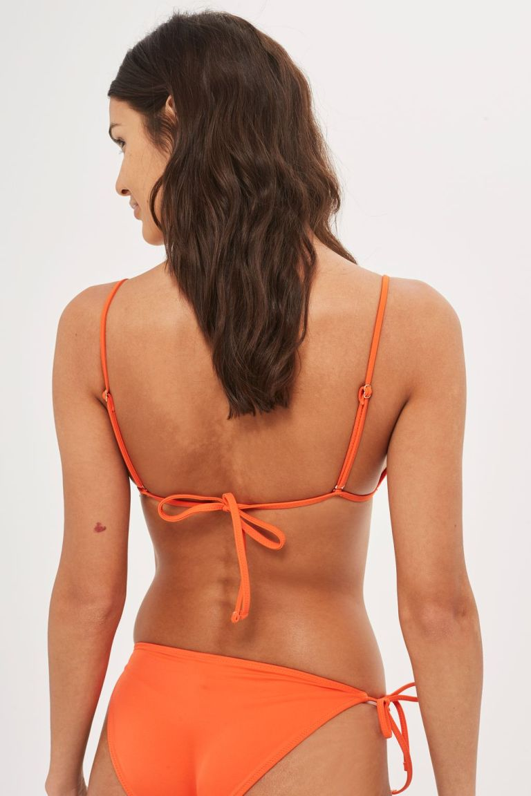 Topshop Ring Trim Triangle Bikini Top back view