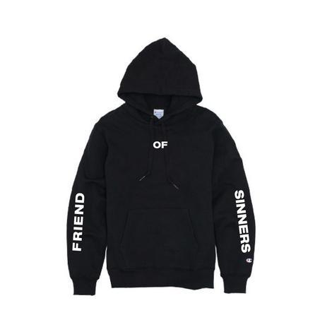 Friend of Sinners'FOS_ Hooded Sweatshirt