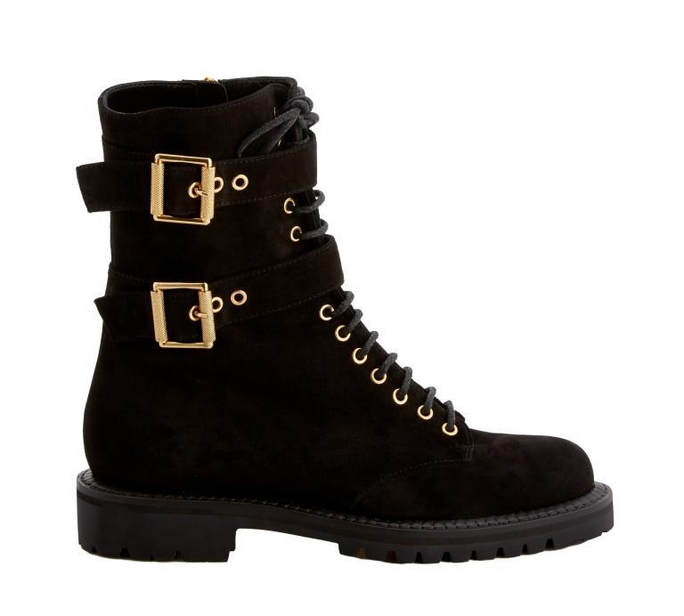 Alexander Vauthier black suede combat boots