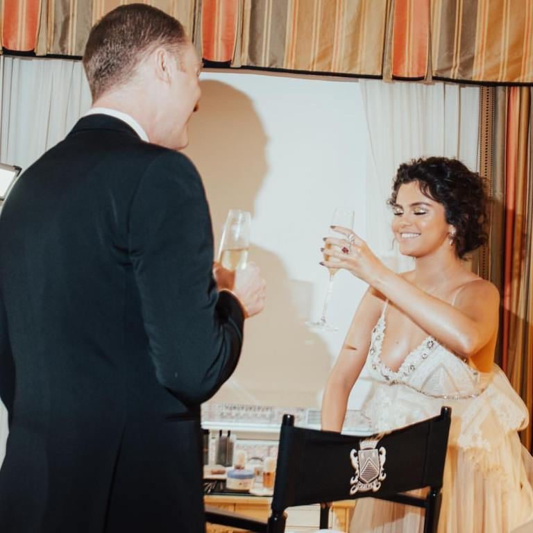 Stuart Vevers and Selena gomez prepare before the Met Gal 2019 photo Stuart Vevers