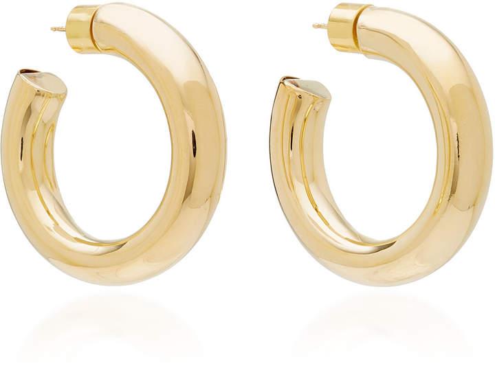 ennifer Fisher Mini Jamma Silver-Plated Brass Hoop Earrings