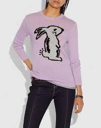 Coach x Selena Bunny Intarsia Sweater