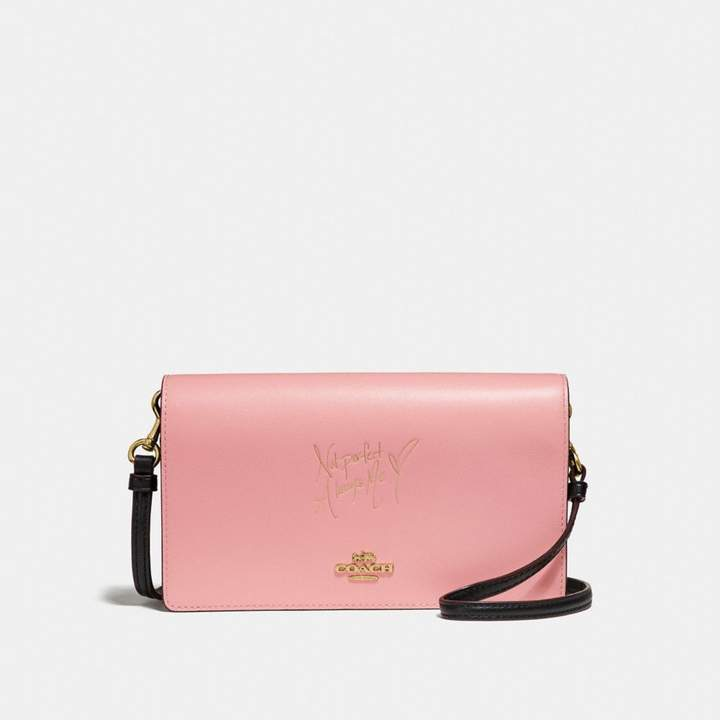 Coach x Selena Foldover Crossbody Clutch in Colorblock