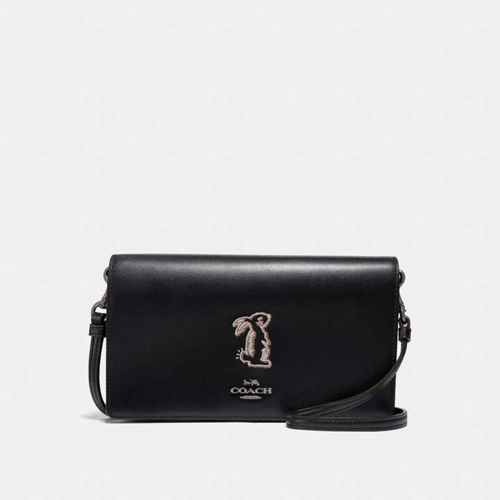 Coach x Selena Foldover Crossbody Clutch With Bunny