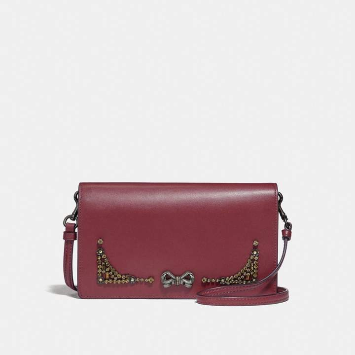 Coach x Selena Foldover Crossbody Clutch With Crystal Embellishment